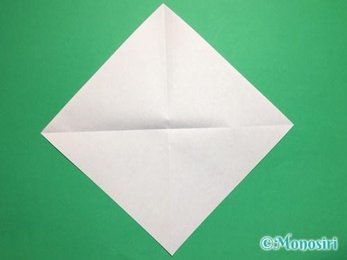 折り紙で桃の花びらの折り方手順2