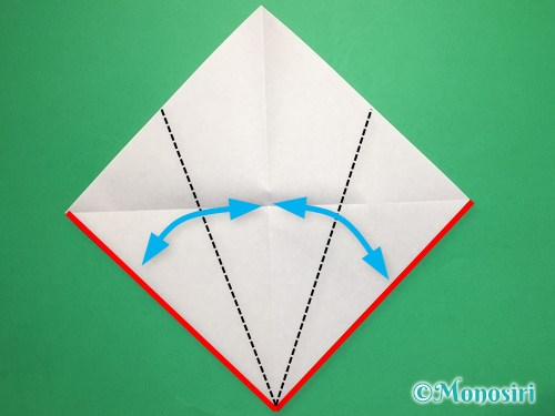 折り紙で桃の花びらの折り方手順3