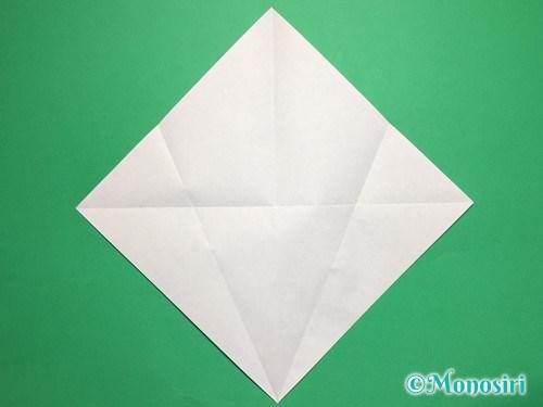 折り紙で桃の花びらの折り方手順4