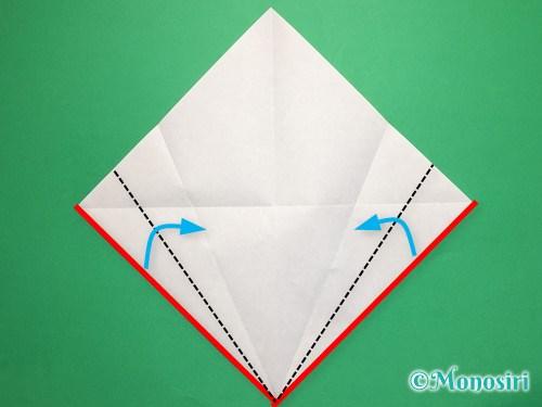 折り紙で桃の花びらの折り方手順5