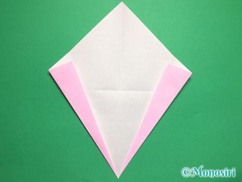 折り紙で桃の花びらの折り方手順6