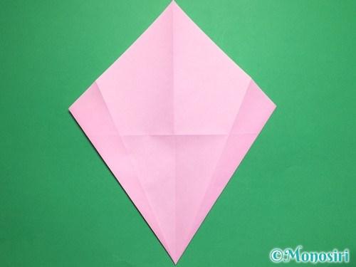 折り紙で桃の花びらの折り方手順7