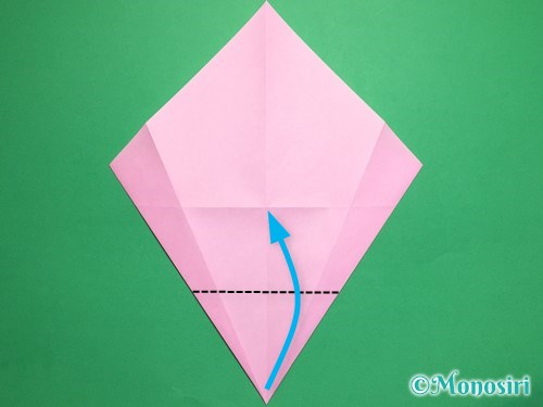 折り紙で桃の花びらの折り方手順8