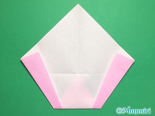 折り紙で桃の花びらの折り方手順10