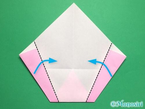 折り紙で桃の花びらの折り方手順11