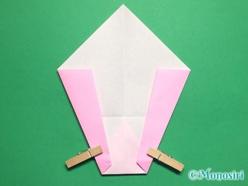 折り紙で桃の花びらの折り方手順12