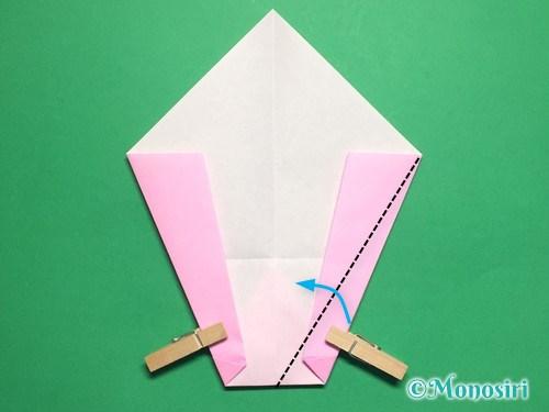 折り紙で桃の花びらの折り方手順13