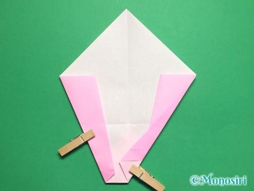 折り紙で桃の花びらの折り方手順14