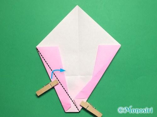 折り紙で桃の花びらの折り方手順15