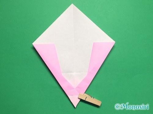 折り紙で桃の花びらの折り方手順16