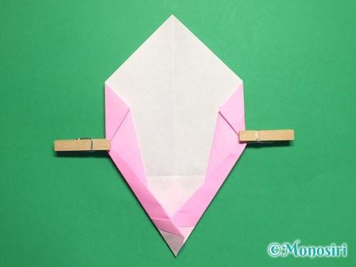 折り紙で桃の花びらの折り方手順18