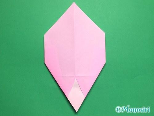 折り紙で桃の花びらの折り方手順19