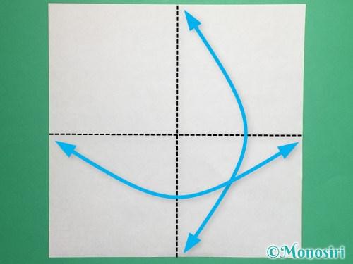 折り紙で脚付き三方の折り方手順1