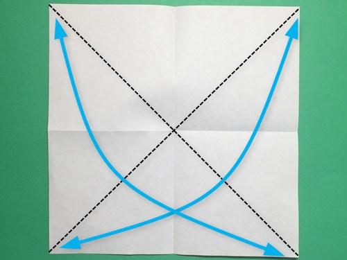 折り紙で脚付き三方の折り方手順3