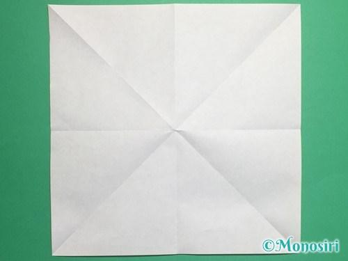 折り紙で脚付き三方の折り方手順4
