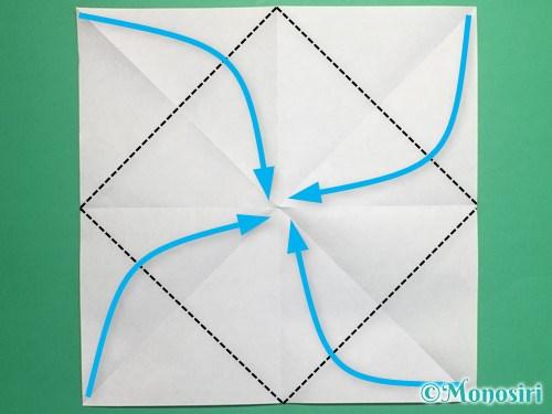 折り紙で脚付き三方の折り方手順5