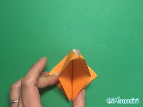 折り紙で脚付き三方の折り方手順10