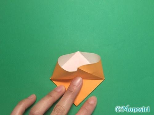折り紙で脚付き三方の折り方手順13