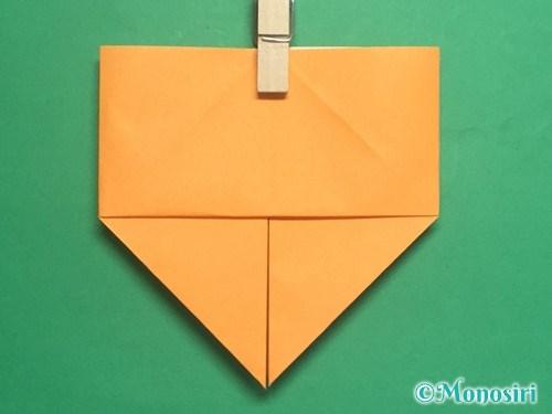 折り紙で脚付き三方の折り方手順15