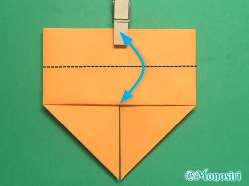折り紙で脚付き三方の折り方手順16