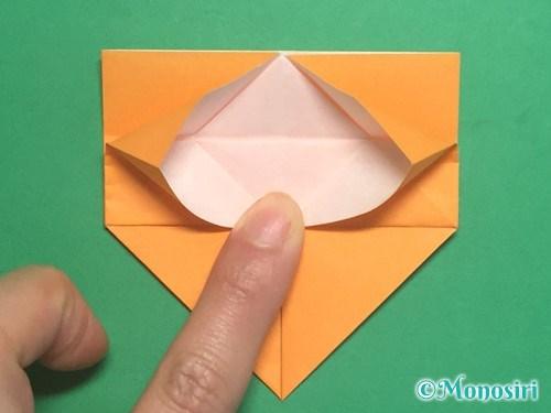折り紙で脚付き三方の折り方手順21