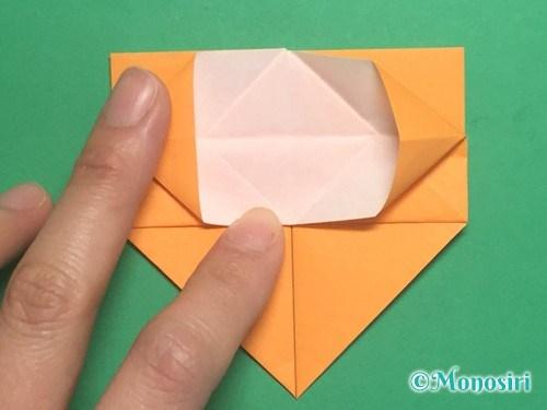 折り紙で脚付き三方の折り方手順22