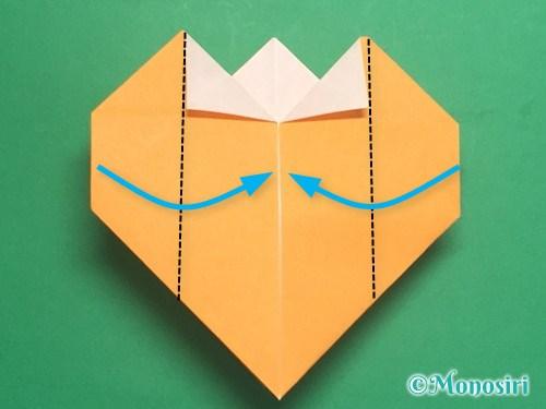 折り紙で脚付き三方の折り方手順30