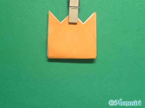 折り紙で脚付き三方の折り方手順35