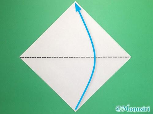 折り紙で立体的な桃の花の作り方手順1