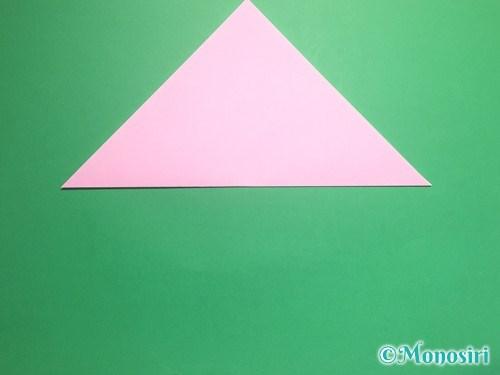 折り紙で立体的な桃の花の作り方手順2
