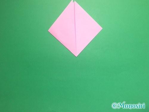 折り紙で立体的な桃の花の作り方手順4