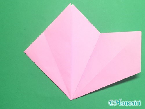 折り紙で立体的な桃の花の作り方手順9