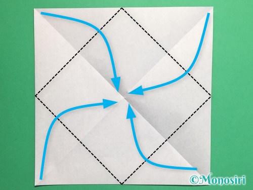 折り紙でパッチンカメラの折り方手順3