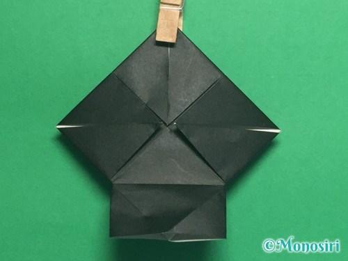 折り紙でパッチンカメラの折り方手順14