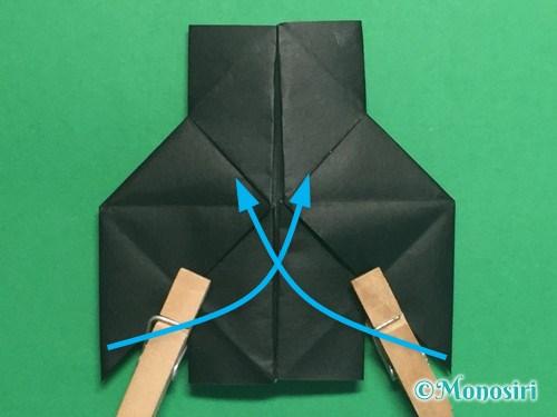 折り紙でパッチンカメラの折り方手順29
