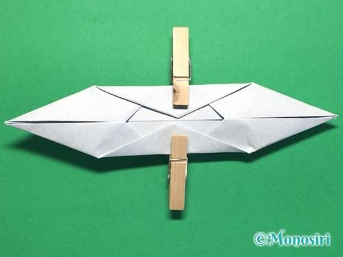折り紙でボートの折り方手順12