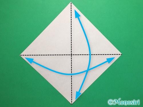 折り紙で簡単な風船の折り方手順1