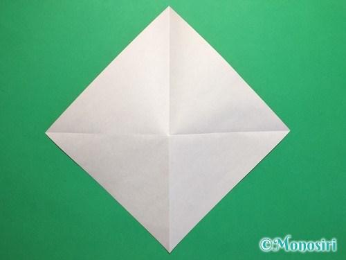 折り紙で簡単な風船の折り方手順2