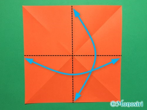 折り紙で簡単な風船の折り方手順3