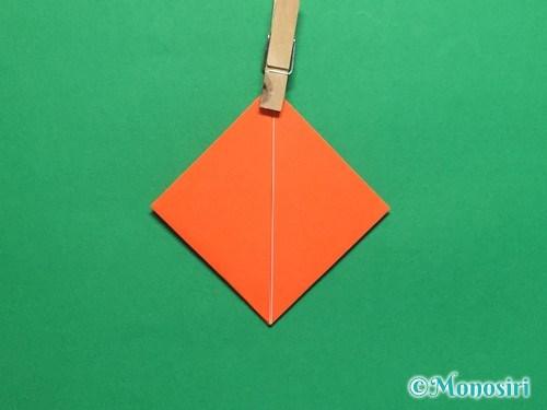 折り紙で簡単な風船の折り方手順12