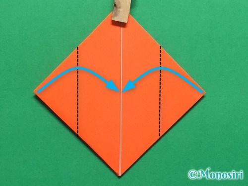 折り紙で簡単な風船の折り方手順13