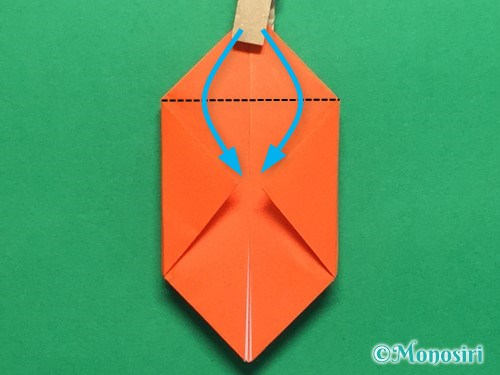 折り紙で簡単な風船の折り方手順16