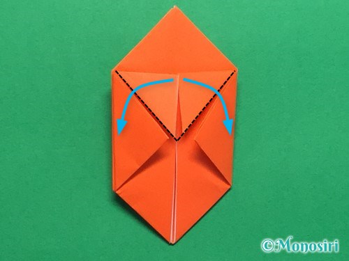 折り紙で簡単な風船の折り方手順18