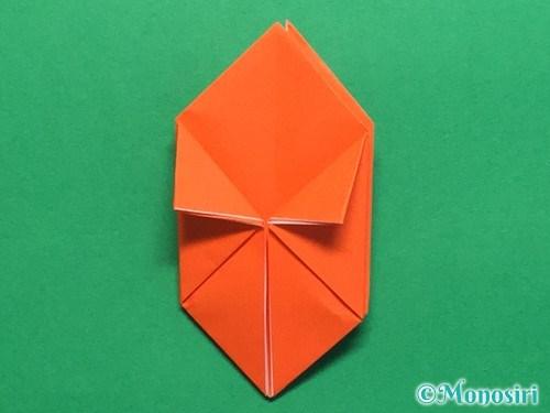 折り紙で簡単な風船の折り方手順19