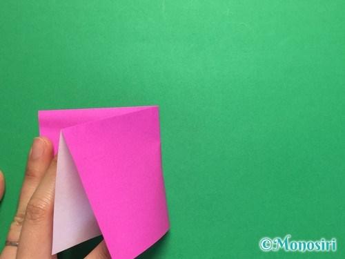 折り紙で羽根つき風船の折り方手順5
