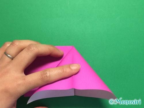 折り紙で羽根つき風船の折り方手順6