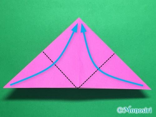 折り紙で羽根つき風船の折り方手順9
