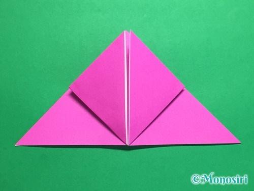 折り紙で羽根つき風船の折り方手順10