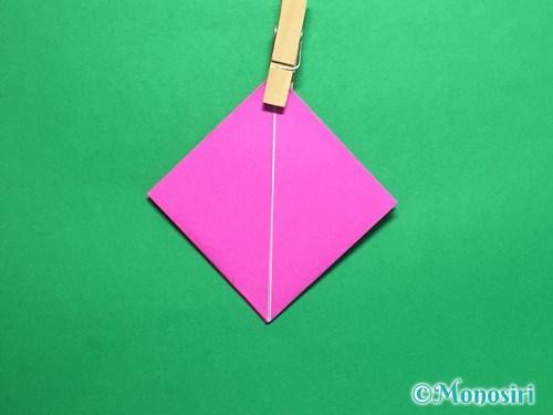 折り紙で羽根つき風船の折り方手順11