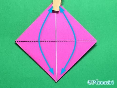 折り紙で羽根つき風船の折り方手順12